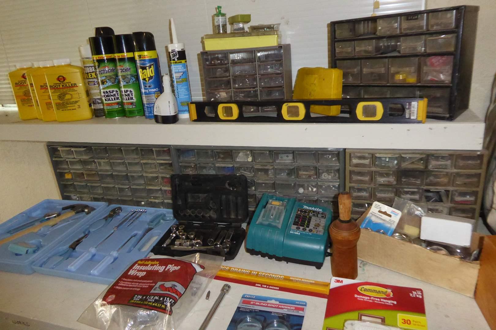 Lot # 11 - Hardware, Tools & Bug Spray  (main image)
