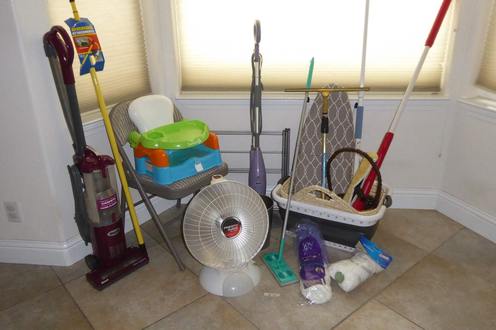 Lot # 17 - Presto Heat Dish Plus Footlight, Shark Vacuum, Safety First Snack Seat & More  (main image)