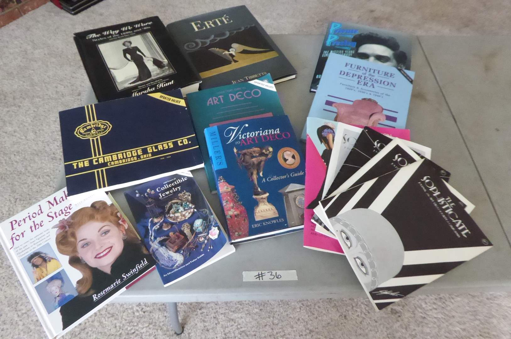 Lot # 36 - Lot Of Books (Art Deco, Period Makeup & Fashion) (main image)
