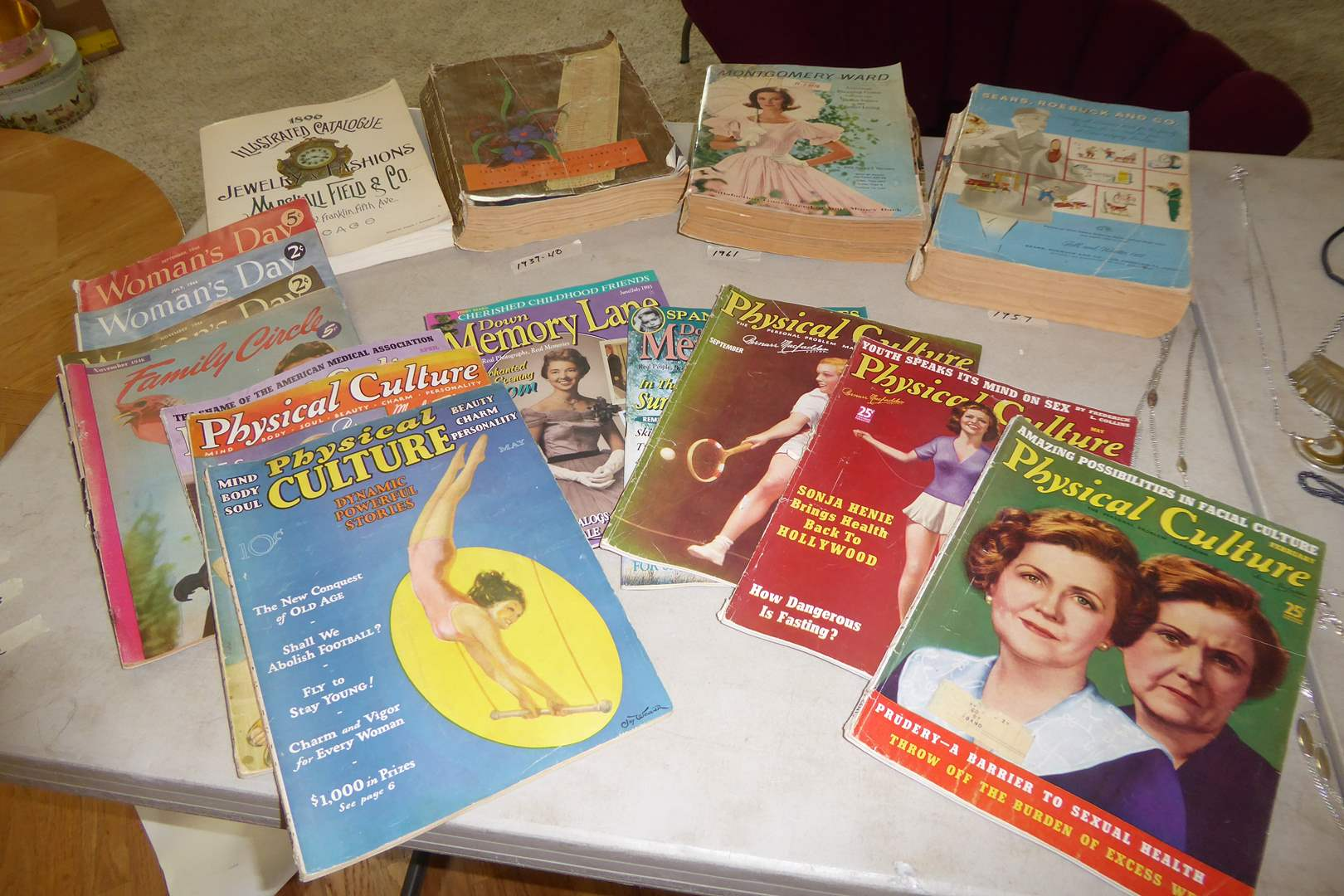 Lot # 40 - Vintage Physical Culture, Women's Day, Sears & Wards Catalogs  (main image)