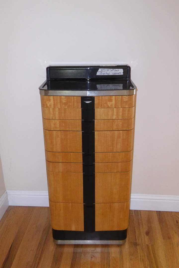 "Lot # 42 - Art Deco Mid Century Dental Cabinet ""American Cabinet Co""  (main image)"
