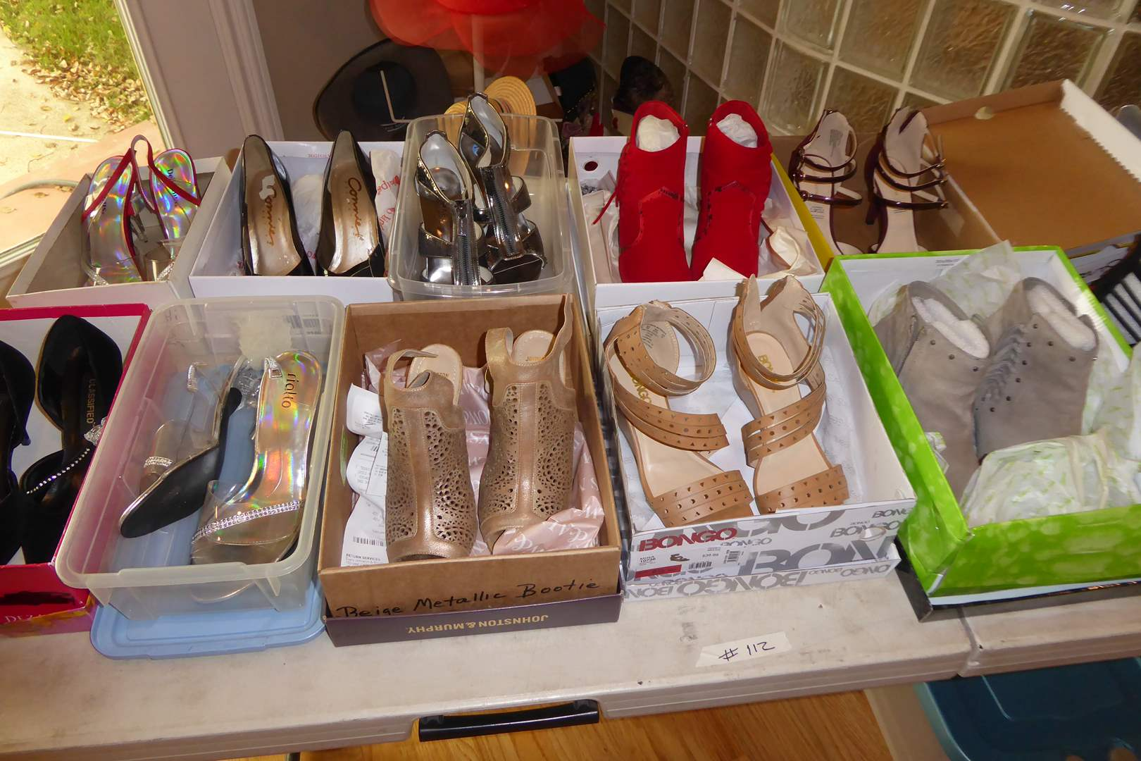 Lot # 112 - Women's High Heels & High Heeled Boots (Mostly Size 7)  (main image)