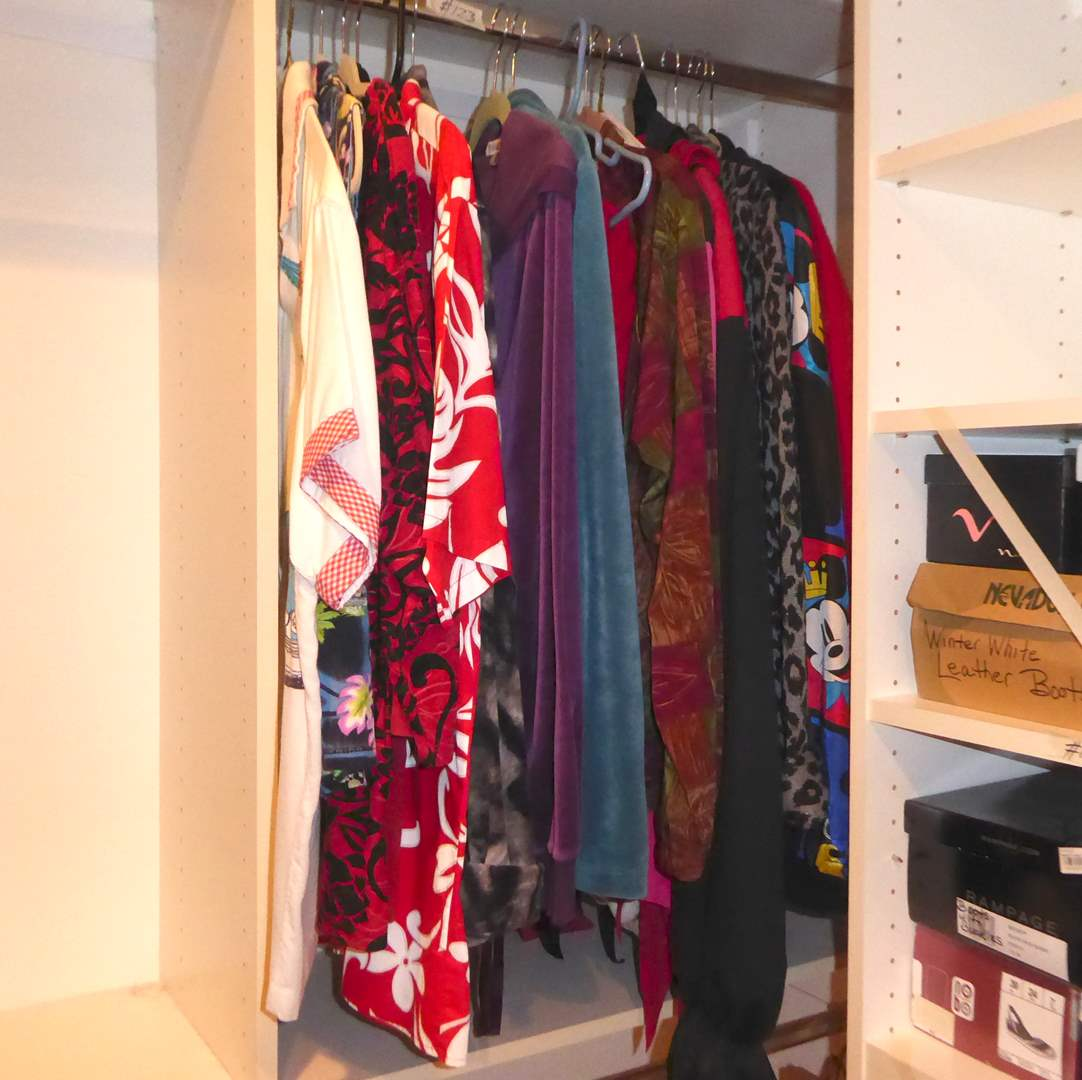 Lot # 123 - Women's Sweaters, Jackets & Blouses & Jester Costume  (main image)