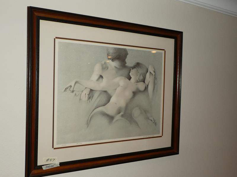 """Lot # 57 - Framed Signed Numbered Print """"Lovers"""" 119/159 (main image)"""