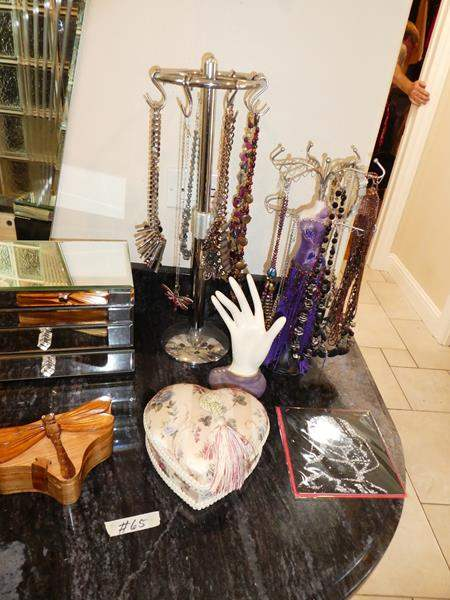 Lot # 65 - Jewelry Boxes & Lots of Costume Jewelry (main image)