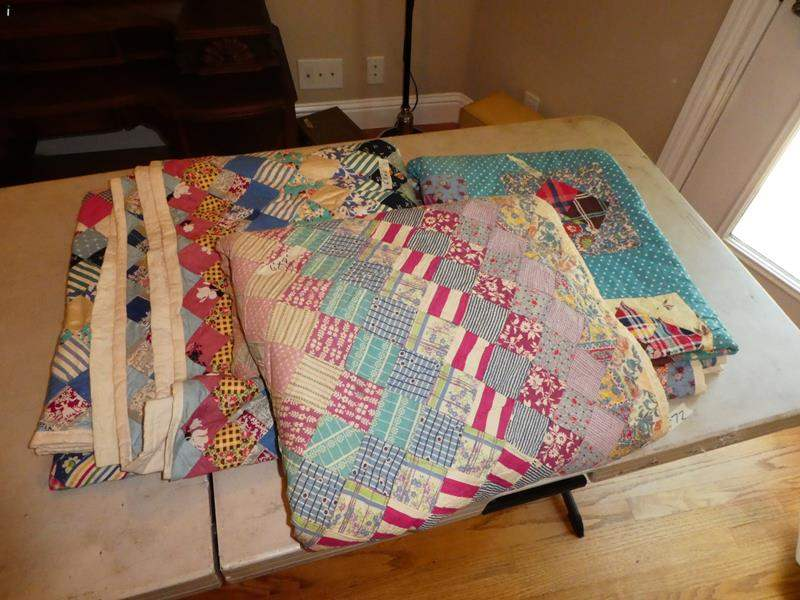 Lot # 72 - Three Handmade Quilts (main image)
