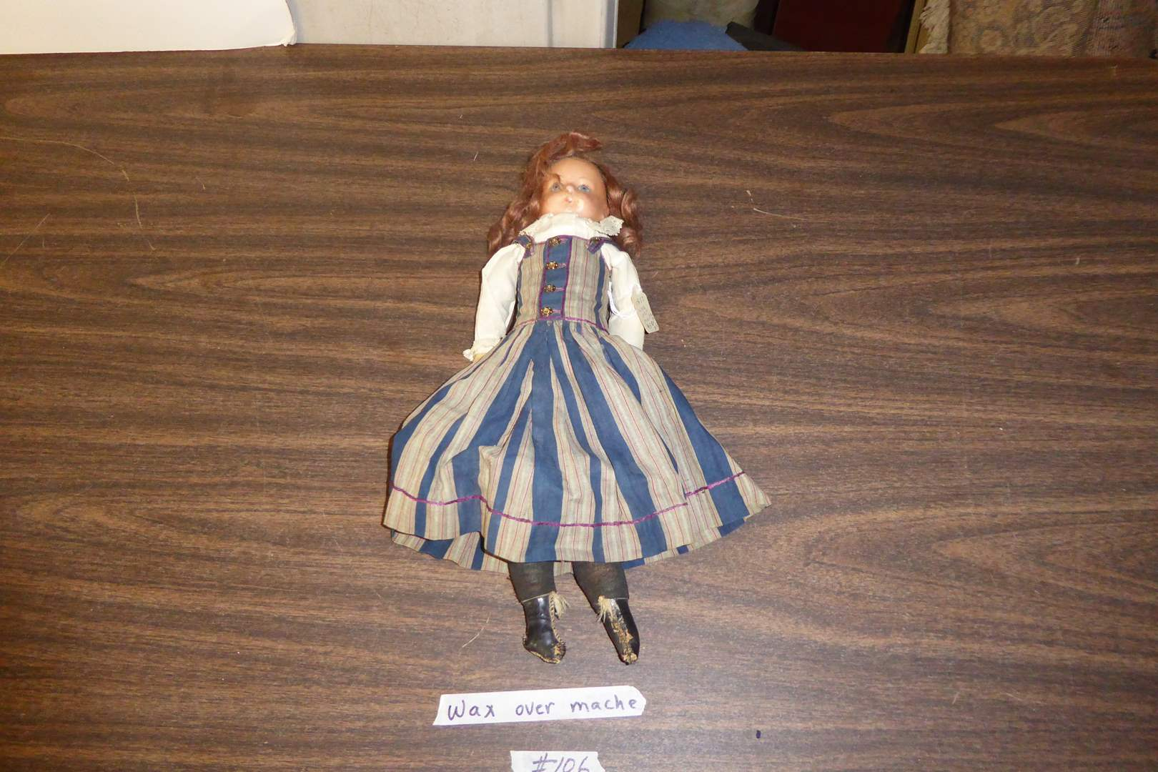 Lot # 106 - Antique Doll - 1850's Wax Over Mache  (main image)