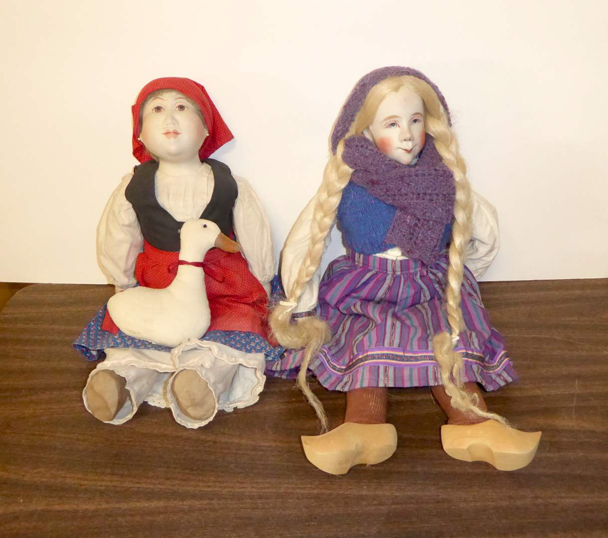 Lot # 110 - Two Signed Dolls (Bisque Heads & Cloth Bodies) (main image)