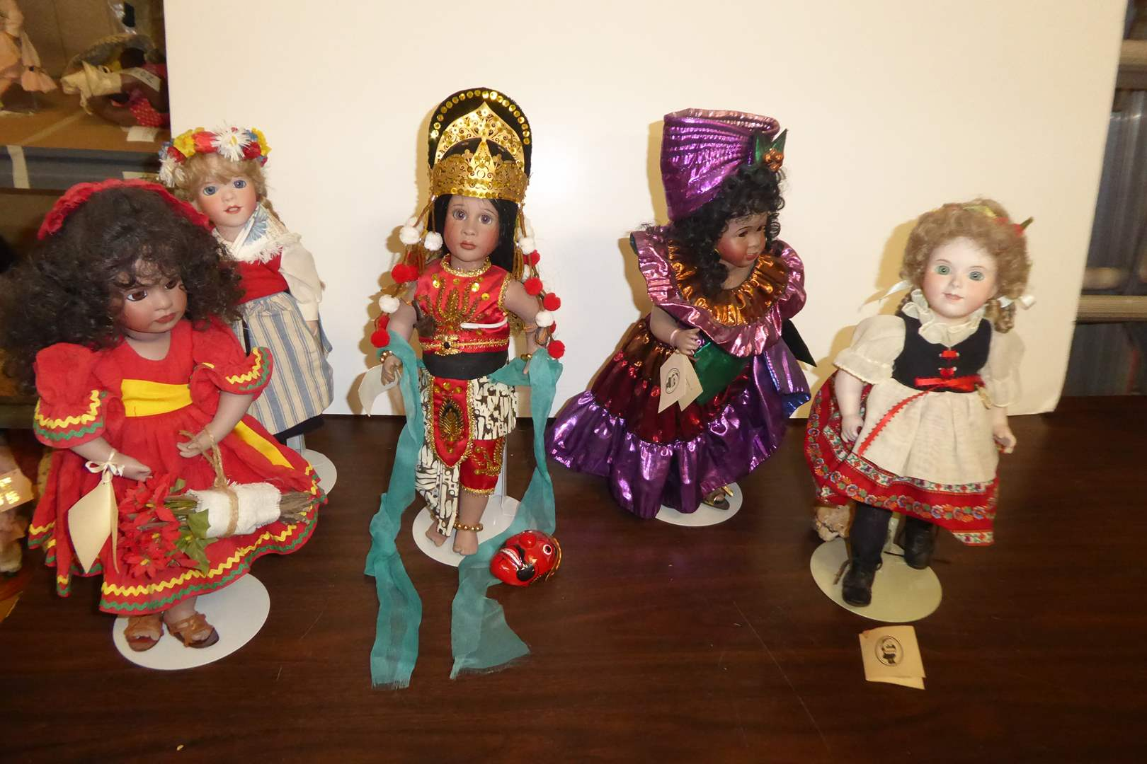 Lot # 118 - Wendy Lawton Collectible Dolls  (main image)