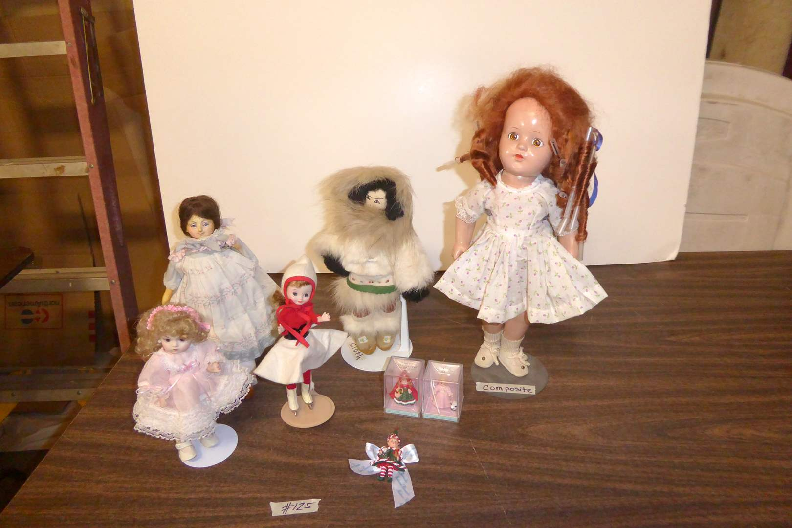 "Lot # 125 - Fired Clay ""Ruth Di Nicola"" Doll, Madame Alexander & Other Dolls  (main image)"