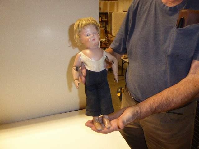 Lot # 135 - Schoenhut Wigged Doll (main image)