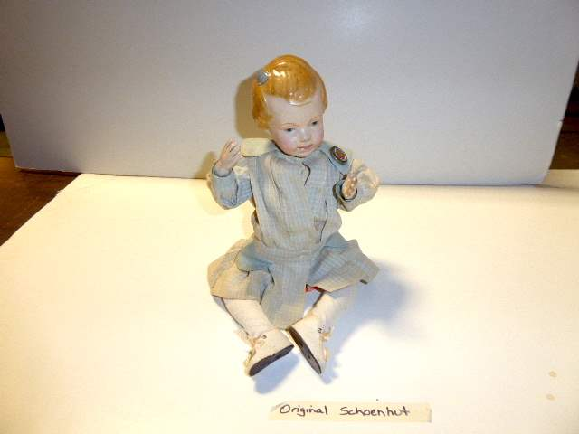 """Lot # 138 -  """"Early"""" Schoenhut Carved Hair Doll  (main image)"""