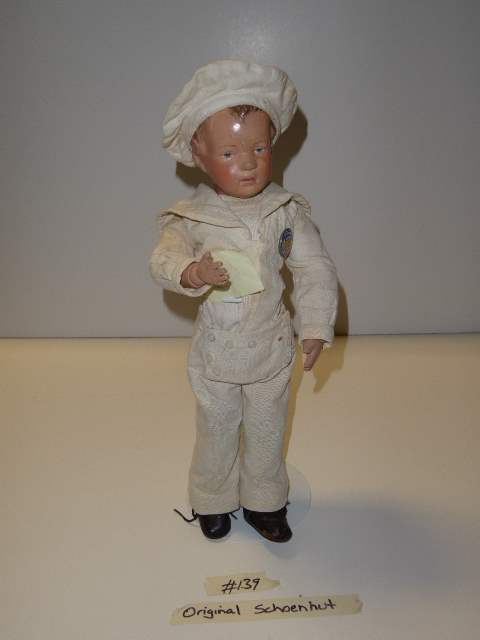 "Lot # 139 - ""Early"" Schoenhut Carved Hair Doll  (main image)"
