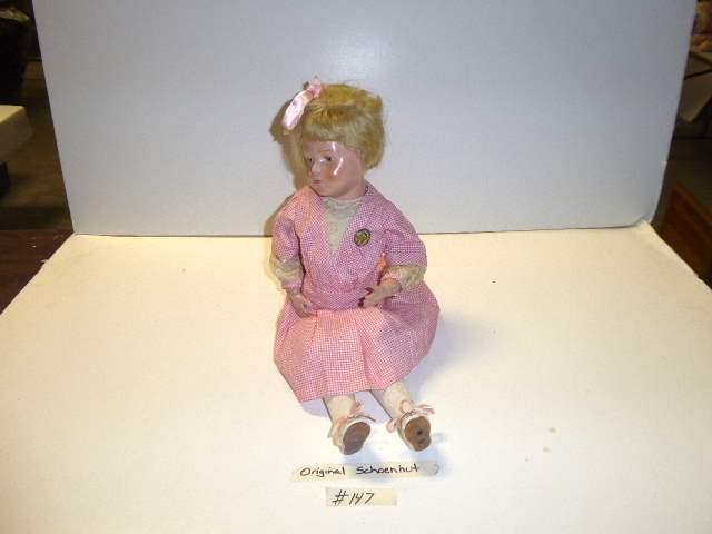 """Lot # 147 - """"Early"""" Schoenhut Wigged Doll  (main image)"""