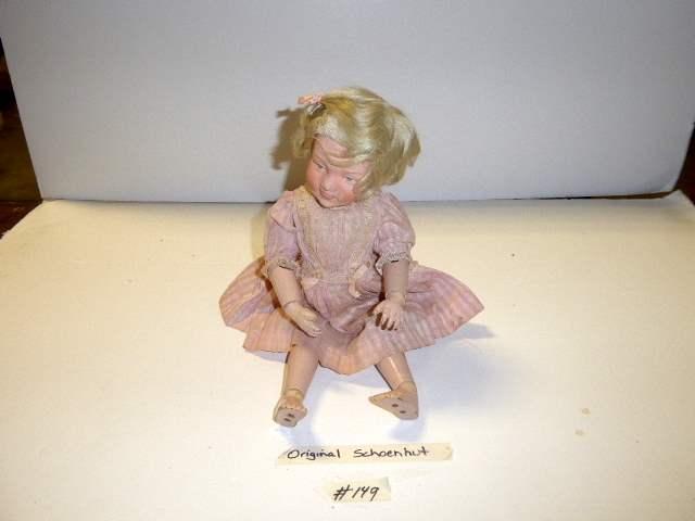Lot # 149 - Schoenhut Wigged Doll (main image)