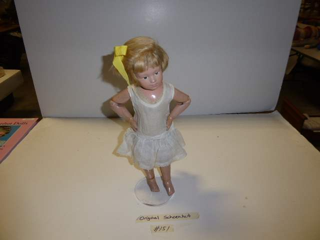 Lot # 151 - Shoenhut Wigged Doll  (main image)