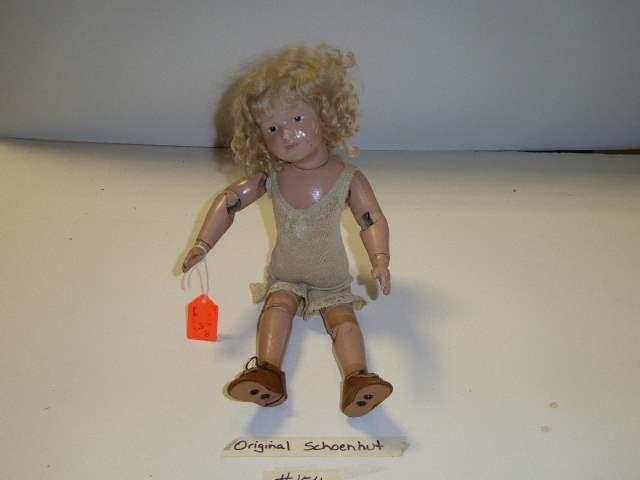 Lot # 154 - Schoenhut Wigged Doll (main image)