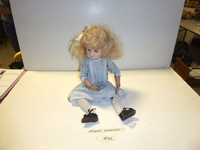 "Lot # 162 - Schoenhut Doll ""Miss Dolly"" Sleepy Eyes With Moving Eyes  (main image)"