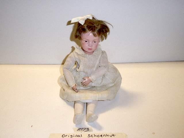 Lot # 173 -Schoenhut Wigged Doll (main image)