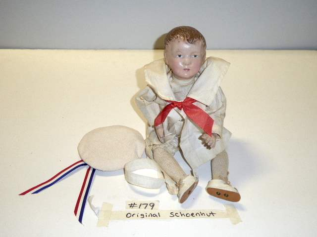 "Lot # 179 -  ""Early"" Schoenhut Carved Hair Doll  (main image)"