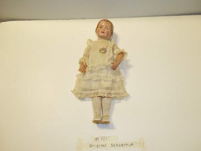 Lot # 181 -  Schoenhut Bonnet Head Doll  (main image)
