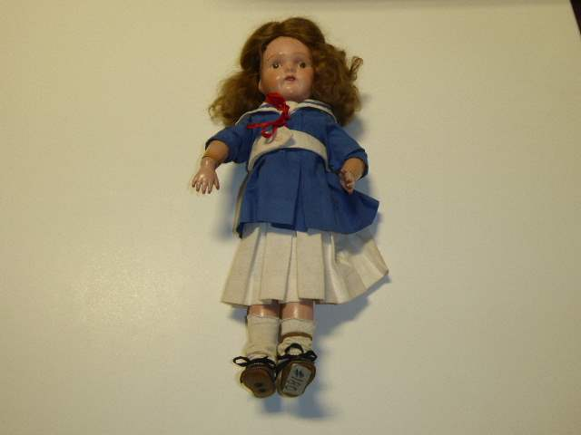 "Lot # 180 -  ""Miss Dolly"" W/Decal Eyes Schoenhut Doll  (main image)"