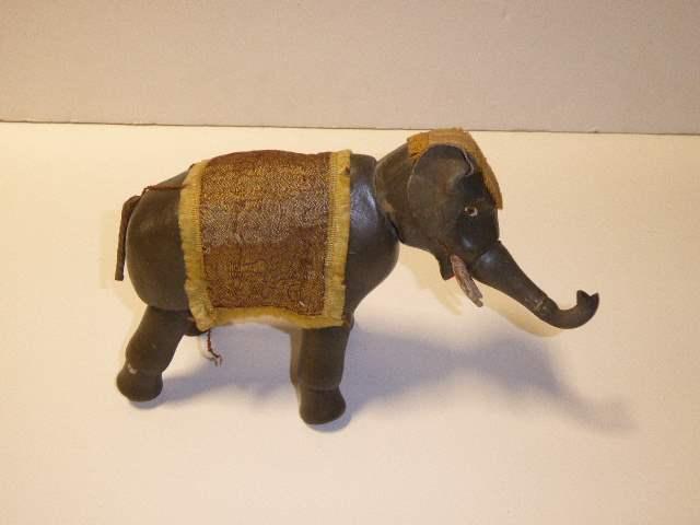 Lot # 183 - Schoenhut Elephant (Painted Eyes) Rubber Trunk Tip (main image)