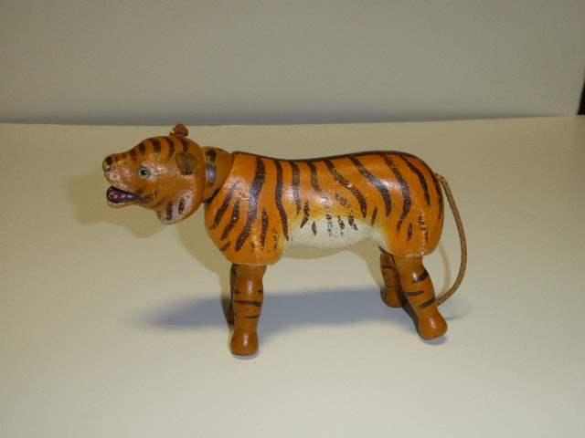Lot # 187 - Schoenhut Tiger (Glass Eyes)  (main image)