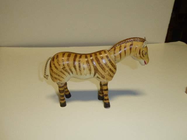 Lot # 188 - Schoenhut Zebra (Painted Eyes)  (main image)