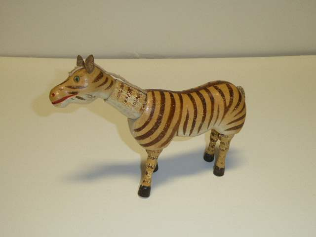Lot # 205 - Schoenhut Zebra (Glass Eyes) (main image)