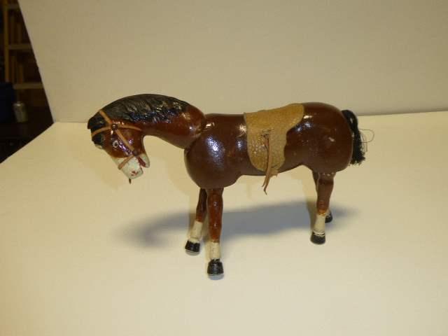 Lot # 208 - Schoenhut Brown Horse (Painted Eyes)  (main image)