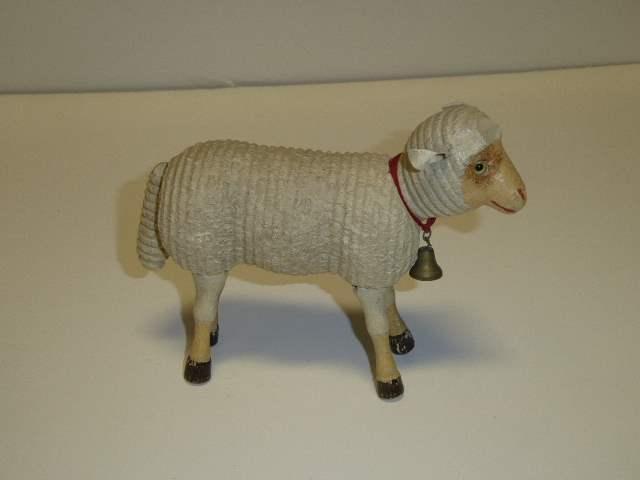 Lot # 216 - Schoenhut Sheep (Glass Eyes)  (main image)
