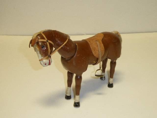 Lot # 218 - Schoenhut Dark Horse (Glass Eyes)  (main image)