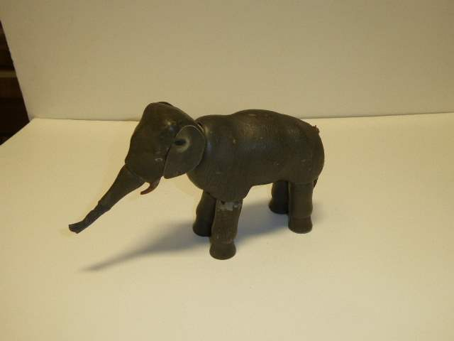 Lot # 220 - Schoenhut  Elephant (Painted Eyes) Repaired Trunk  (main image)