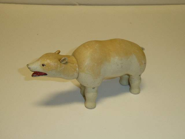 Lot # 224 - Schoenhut Polar Bear (Painted Eyes)  (main image)