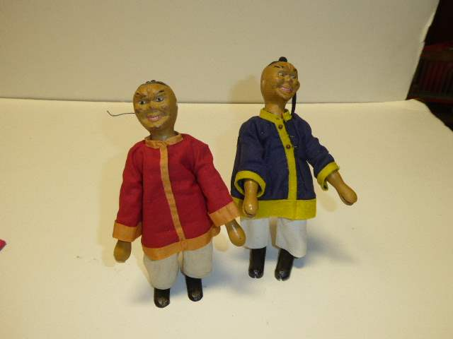 Lot # 268 - Two  Schoenhut Acrobat Dolls  (main image)