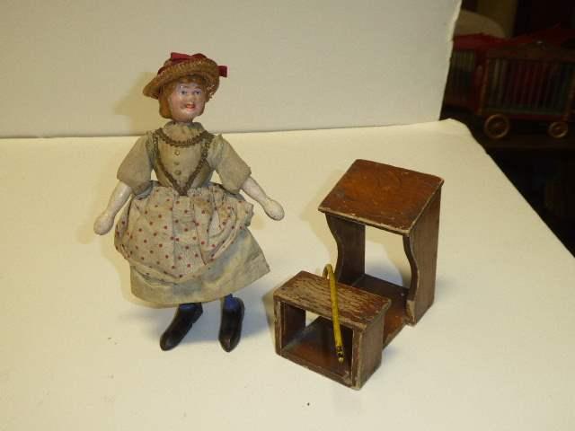 Lot # 271 - Schoenhut Style I Mary W/Desk  (main image)