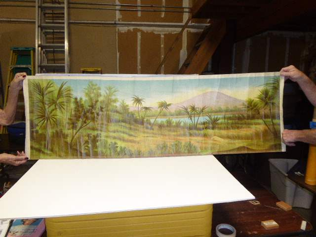 Lot # 275 - Schoenhut Teddy Roosevelt's Africa Safari Background (main image)