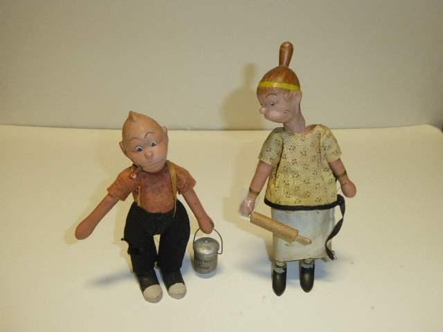 Lot # 277 - Schoenhut Maggie & Jiggs  (main image)