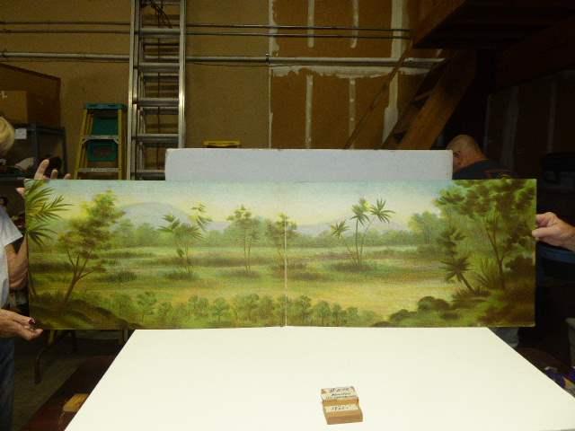 Lot # 278 - Schoenhut Teddy Roosevelt's Africa Safari Background (Paper On Board) (main image)