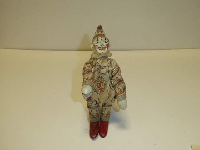 Lot # 282 - Schoenhut Clown - Two Part Head/Leather Ears  (main image)