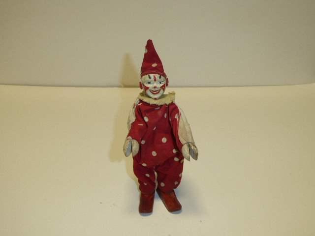 Lot # 283 -  Schoenhut Clown - Two Part Head/Covered Ears  (main image)