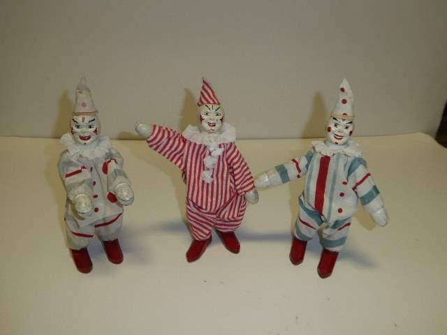 Lot # 284 - Schoenhut Clowns - One W/Two Part Head (main image)