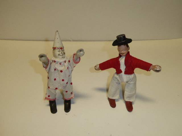 Lot # 289 - Schoenhut Clown & Other Doll  (main image)