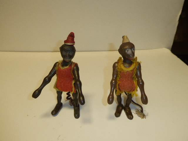Lot # 295 - Two Schoenhut Monkeys  (main image)