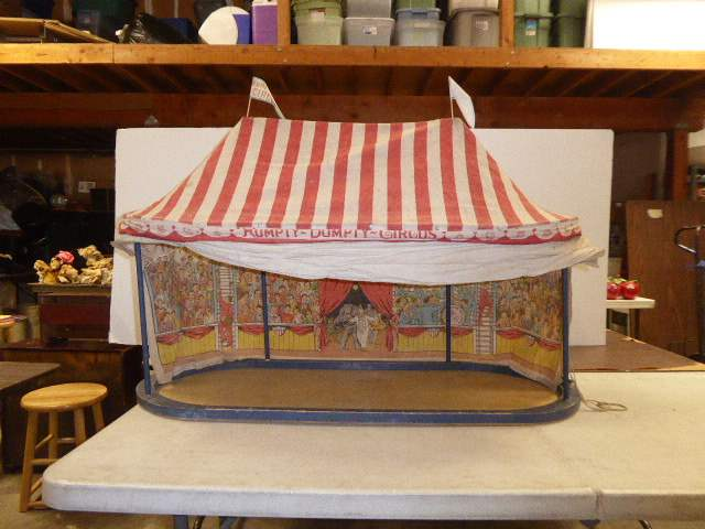 Lot # 306 - Schoenhut Humpty Dumpty Circus Tent (Lithographed Canvas Wood Frame)   (main image)