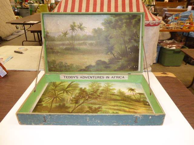 Lot # 307 - Rare Schoenhut Teddy Roosevelt's Africa Safari Original Box  (main image)