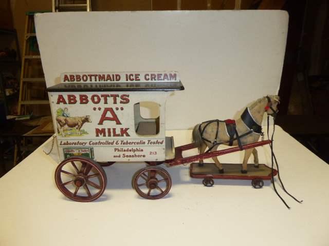 Lot # 310 - Abbots Milk Wagon & Horse  (main image)