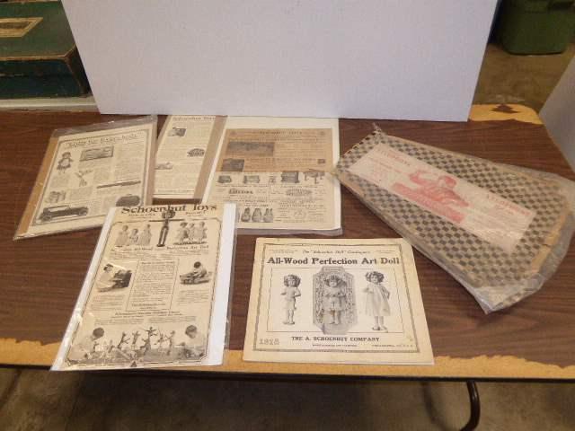 Lot # 321 - Schoenhut Catalog, Advertisements & Antique Xylophone Solos Box  (main image)