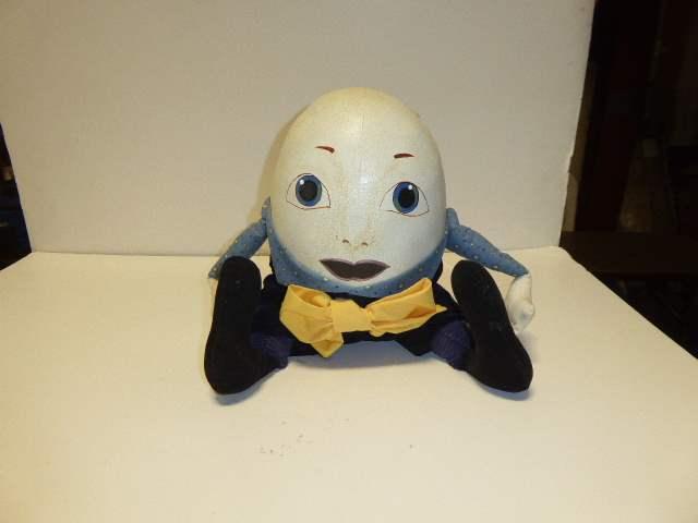 Lot # 323 - Leather & Cloth Humpty Dumpty Doll  (main image)